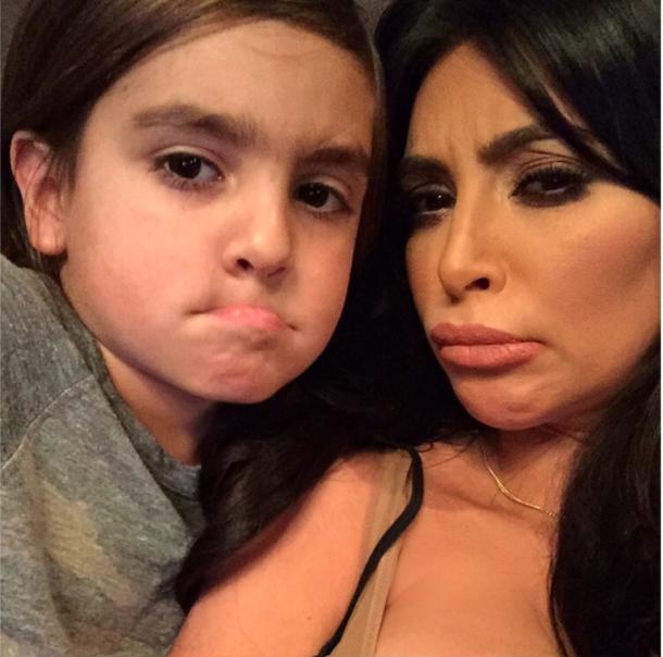 Mason Disick et Kim Kardashian le 12 juillet 2015