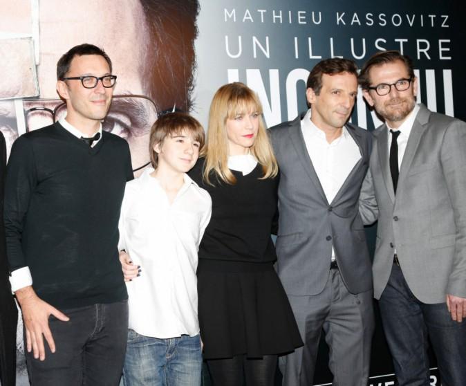 Mathieu Kassovitz et l'équipe du film à Paris le 17 novembre 2014