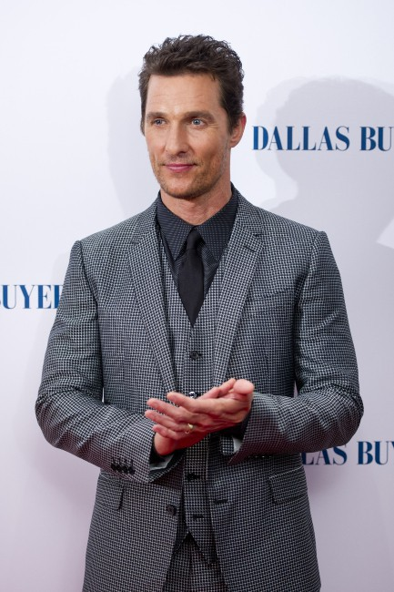"""Matthew McConaughey lors de la première du film """"Dallas Buyers Club"""" à Londres, le 29 janvier 2014."""