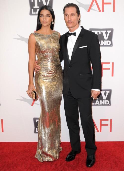 Matthew McConaughey et Camilla Alves au AFI Lifetime AChievement Award hier soir à Los Angeles !