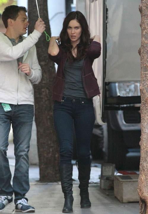 Kim Kardashian sur le tournage des Tortues Ninja à New-York le 5 mai 2013