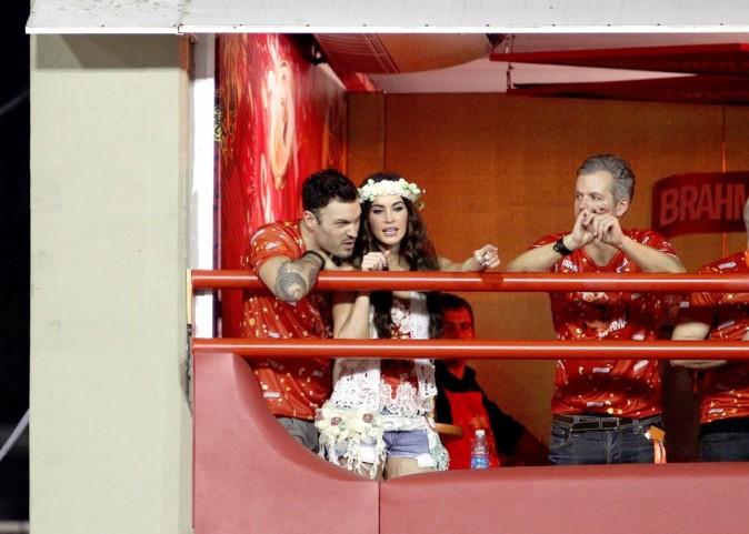 Megan Fox et Brian Austin Green au carnaval de Rio de Janeiro le 10 février 2013