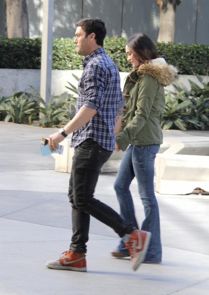 Megan Fox et Brian Austin Green se rendant au Staples Center à Los Angeles, le 25 décembre 2011.
