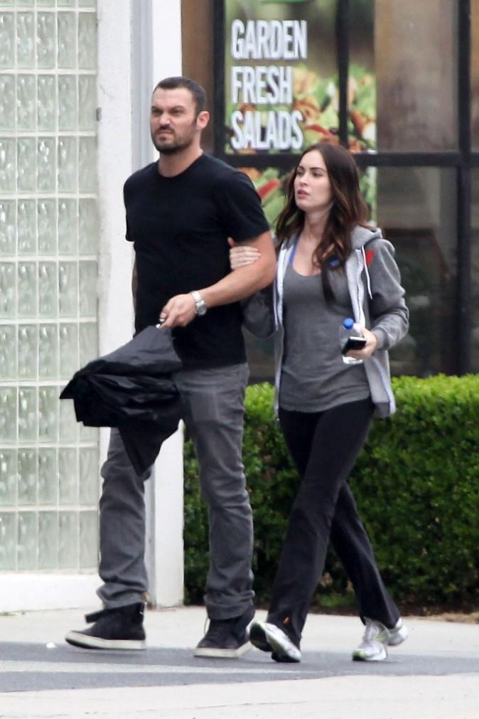 Megan Fox et Brian Austin Green en route pour la messe du dimanche