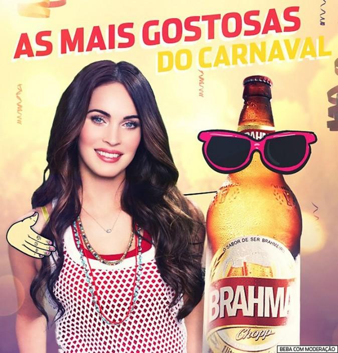 Megan Fox pose pour la marque de bière Brahma