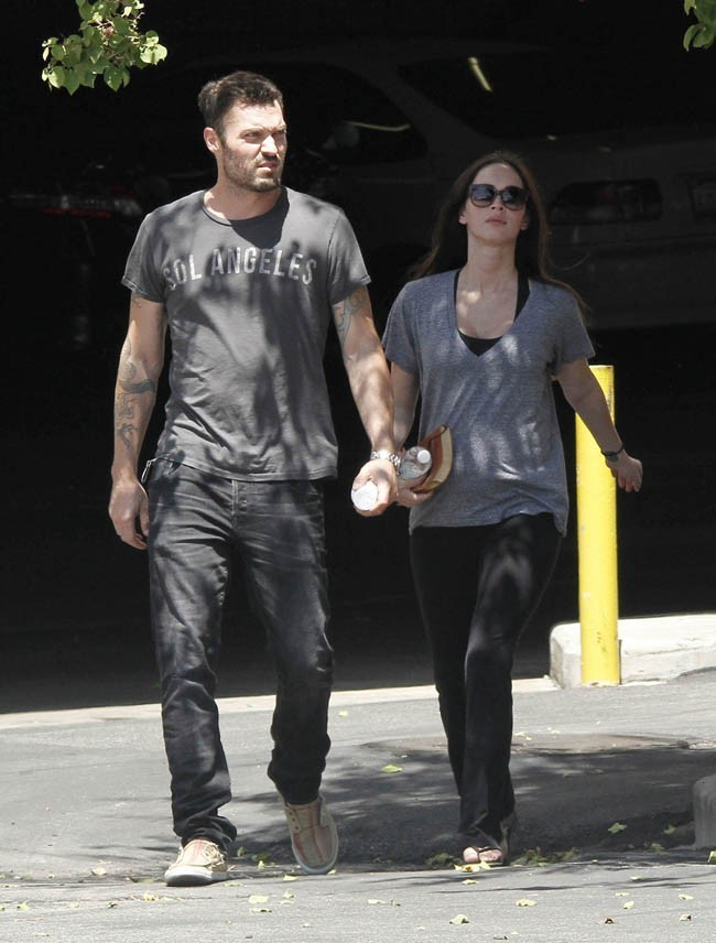 Megan Fox et Brian Austin Green le 25 juillet 2012 à West Hollywood