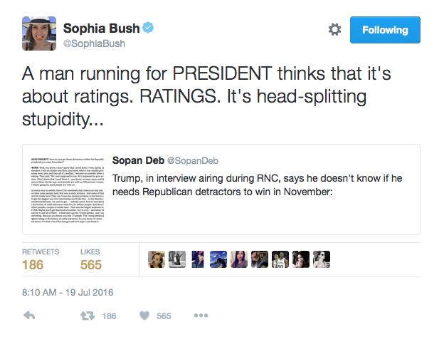Sophia Bush, star de la série Chicago PD réagit au discours de Melania Trump