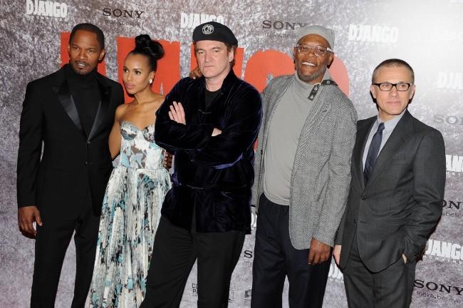 Quentin Tarantino et ses acteurs de Sjango unchained