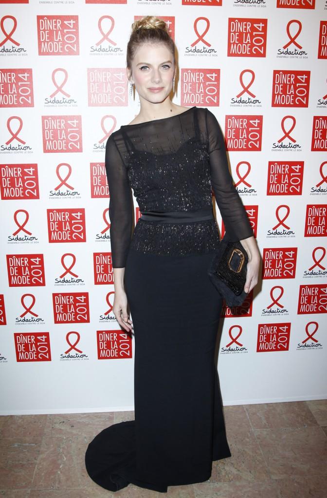 Mélanie Laurent lors du 12e Dîner du Sidaction à Paris, le 23 janvier 2014.