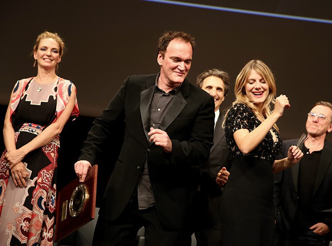 Quentin Tarantino et Mélanie Laurent à Lyon le 18 octobre 2013