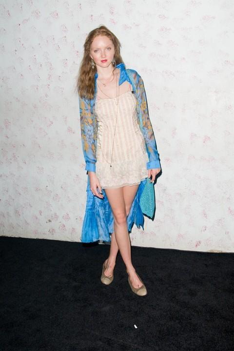 Lily Cole lors du défilé Barneys New York à New York, le 10 septembre 2011.