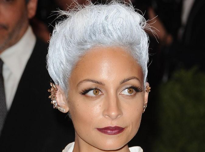 photos met ball 2013 nicole richie un drle de lutin aux cheveux blancs - Colorer Cheveux Blancs