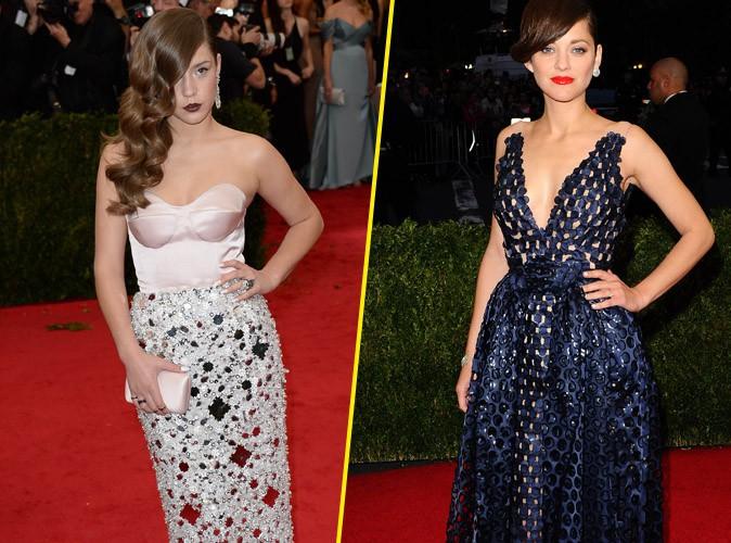 MET Ball 2014 : Adèle Exarchopoulos et Marion Cotillard : les Françaises audacieuses à la soirée new-yorkaise la plus glamour de l'année !