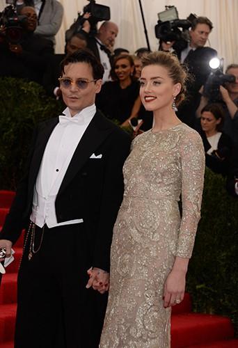 Johnny Depp et Amber Heard à New York le 5 mai 2014