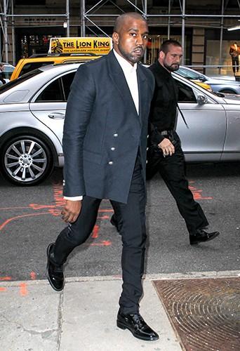 Kanye West à New York le 5 mai 2014