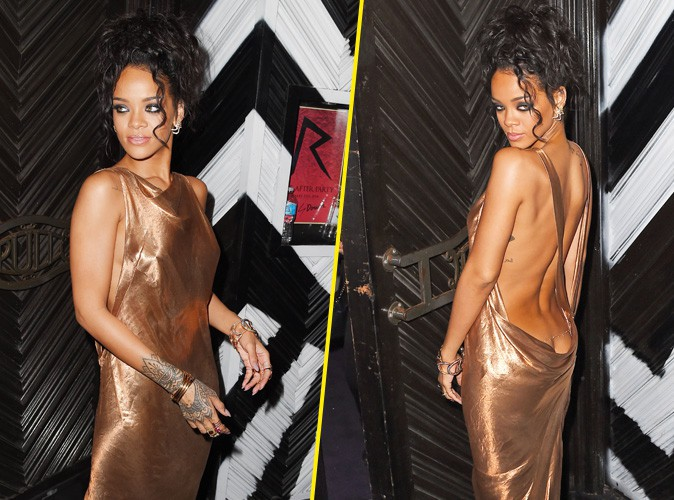 MET Ball 2014 : Rihanna : raie des fesses bien en vue à l'after-party !