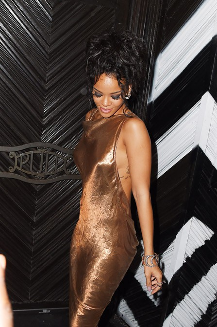 Rihanna à l'after-party du MET Ball organisée à New-york le 5 mai 2014