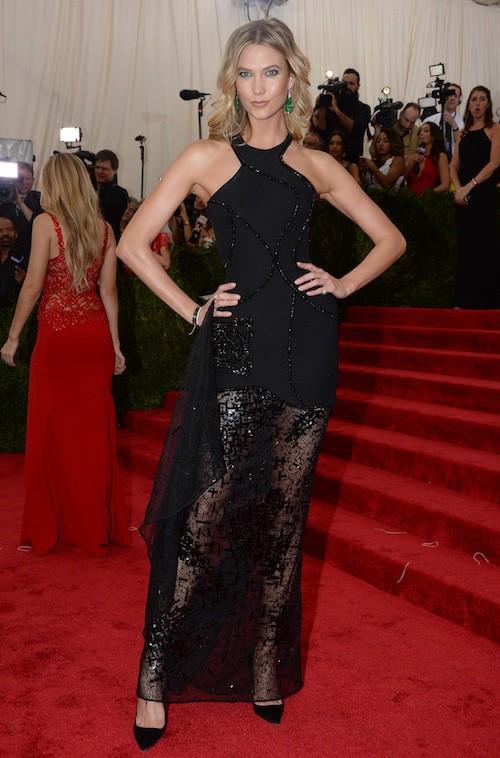 Karlie Kloss au Met Gala 2015, le 4 mai 2015