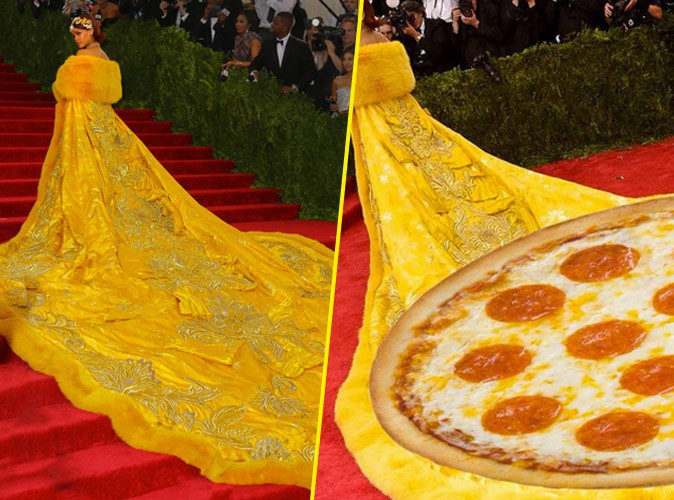 Met Gala 2015 : Rihanna et son long manteau largement moqu�s sur la toile !