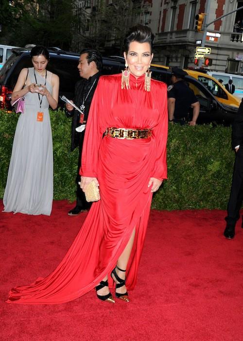 Kris Jenner en Balmain au Met Gala, le 4 mai 2015