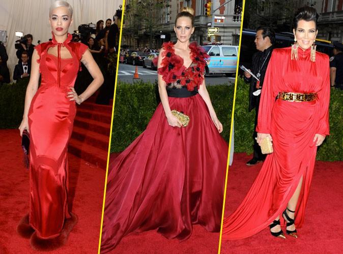 Photos : Met Gala 2015 : Rita Ora, Poppy Delevingne, Kris Jenner… Toutes en rouge !