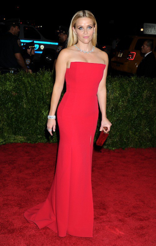 Reese Witherspoon en Jason Wu au Met Gala, le 4 mai 2015