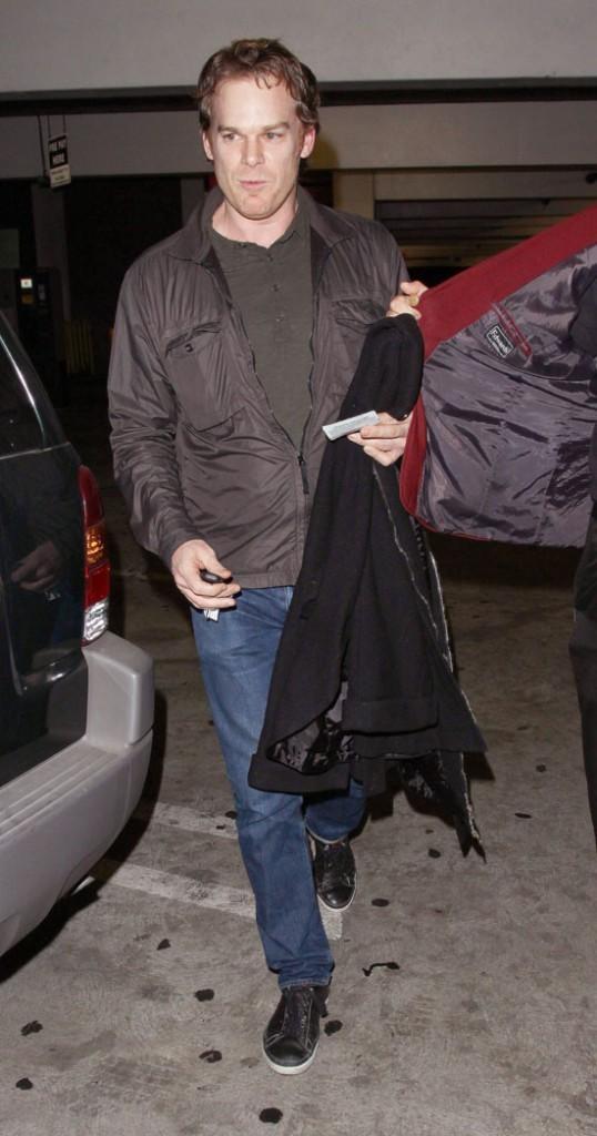 Michael C Hall et sa girlfriend Morgan MacGregor à Los Angeles le 2 janvier 2013