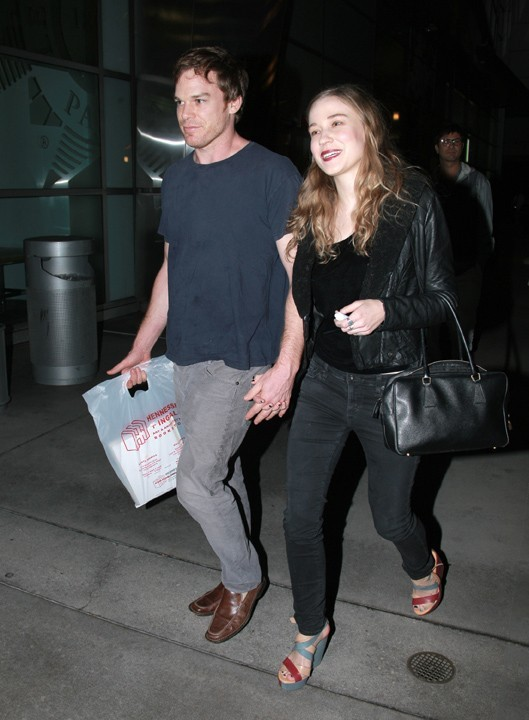 Michael C Hall et sa girlfriend à Hollywood le 29 octobre 2012