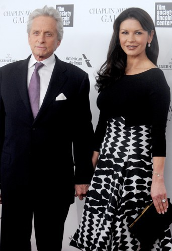 Michael Douglas et Catherine Zeta-Jones à New York le 28 avril 2014