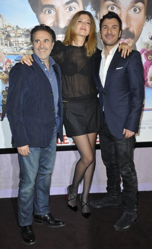 José Garcia, Michaël Youn et Isabelle Funaro le 19 février 2013 à Paris
