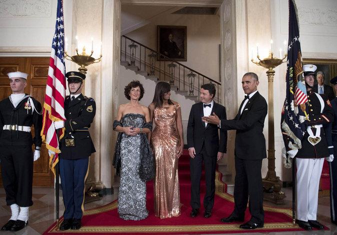 Photos : Michelle Obama, golden girl pour un dernier diner d'état à la Maison Blanche !