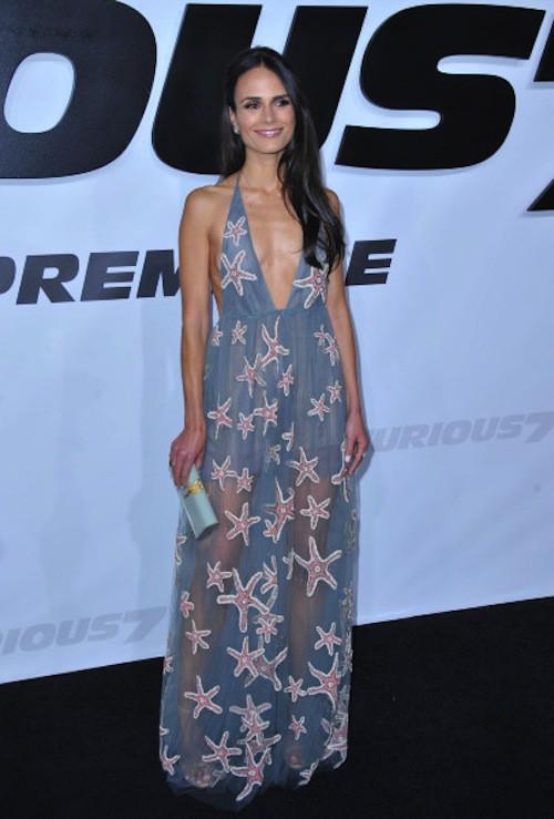 Jordana Brewster lors de la première de Furious 7 à Los Angeles