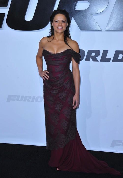 Michelle Rodriguez lors de la première de Furious 7 à Los Angeles
