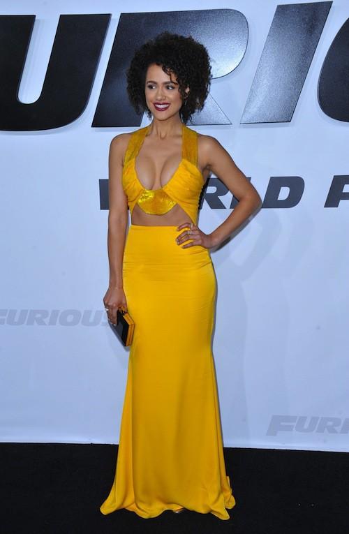 Nathalie Emmanuel lors de la première de Furious 7 à Los Angeles