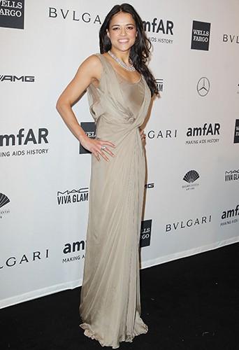 Michelle Rodriguez à New-York le 5 février 2014