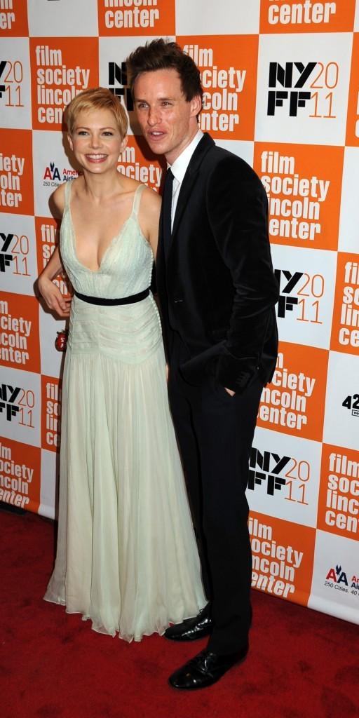 Michelle Williams et Eddie Redmayne lors de la première du film My Week With Marilyn à New York, le 9 octobre 2011.