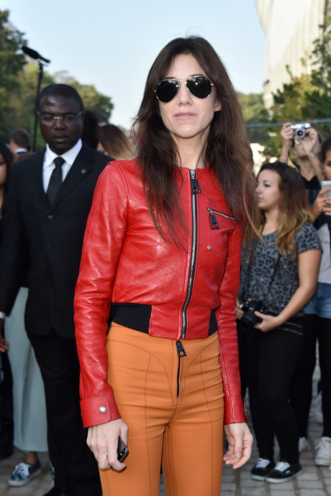 Charlotte Gainsbourg au défilé Louis Vuitton le 1er octobre 2014