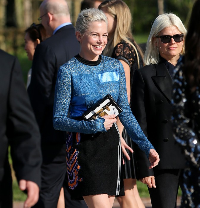 Michelle Williams au défilé Louis Vuitton le 1er octobre 2014