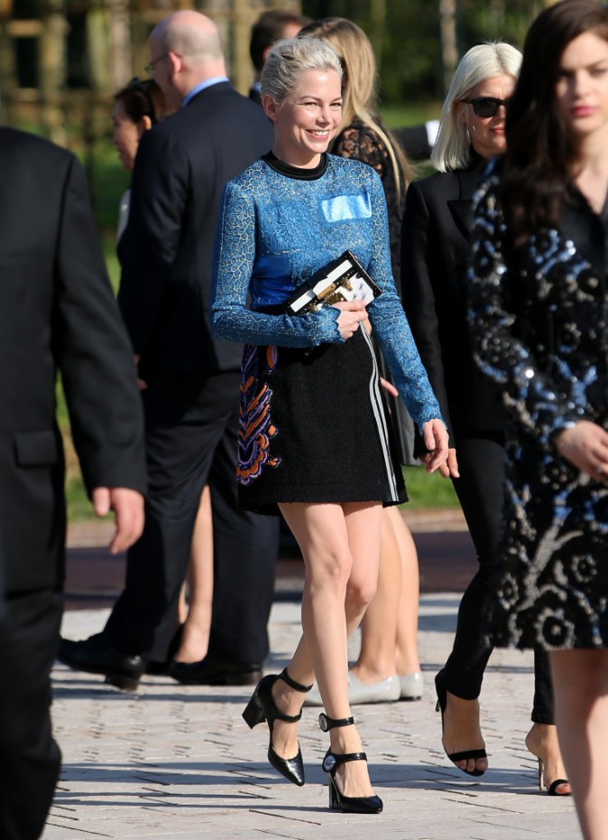 Michelle Williams au défilé Louis Vuitton le 1er octobre 2014