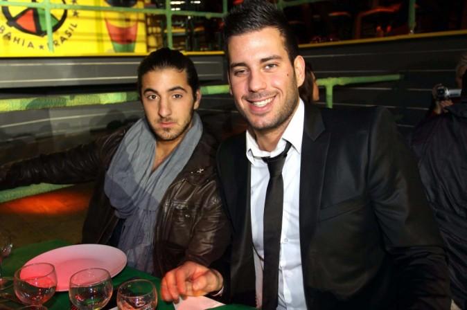 Rudy et Zelko lors de l'élection de Miss Nationale 2012 à Paris, le 18 décembre 2011.