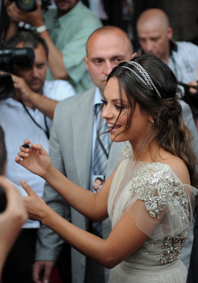 Mila Kunis lors de la première du film Friends With Benefits à Moscou, le 26 juillet 2011.