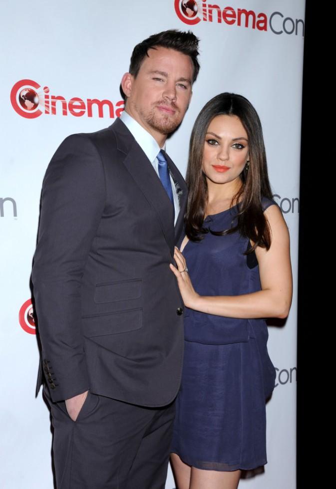Channing Tatum et Mila Kunis lors du CinemaCon à Las Vegas, le 27 mars 2014.