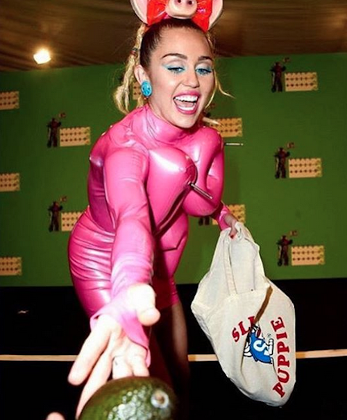 "Photos : Miley Cyrus : après les MTV VMA, sa ""penis party"" à vomir !"
