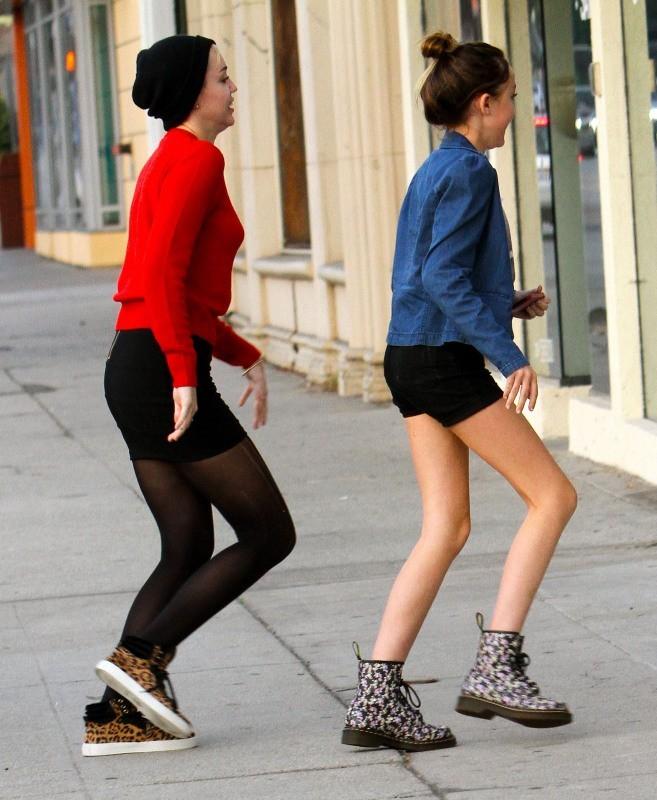 Miley et Noah Cyrus le 26 novembre 2012 à Los Angeles
