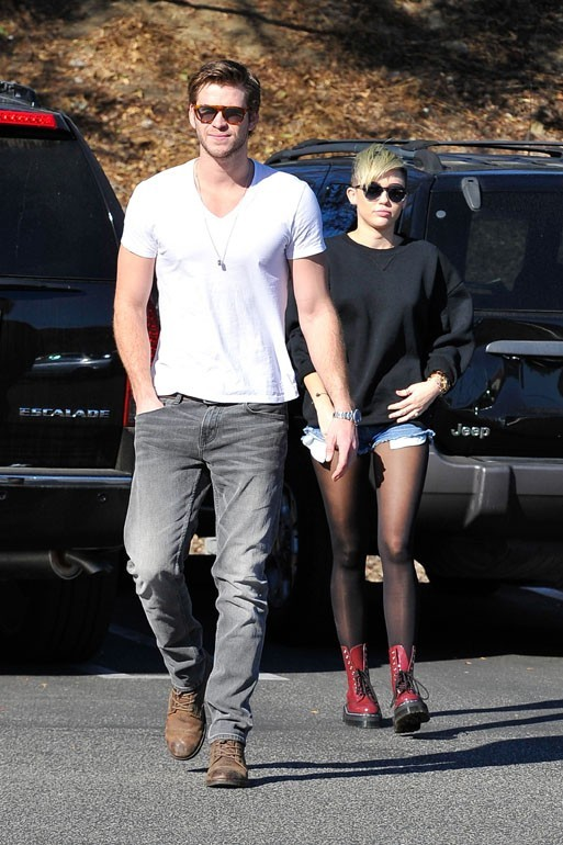 Miley Cyrus et Liam Hemsworth à Studio City le 11 novembre 2012