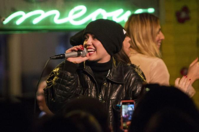 Miley Cyrus à la Nouvelle Orléans le 17 mars 2014