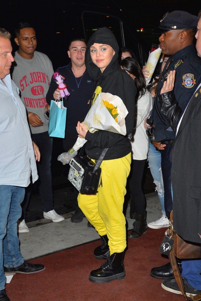 Miley Cyrus à New York le 1er octobre 2015