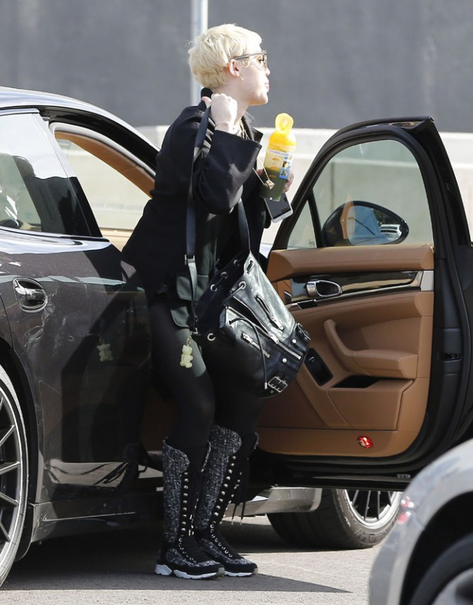 Miley Cyrus à Culver City le 16 janvier 2015