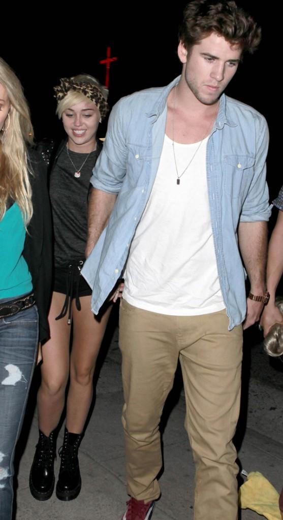 Miley Cyrus et Liam Hemsworth le 31 août 2012 à Los Angeles