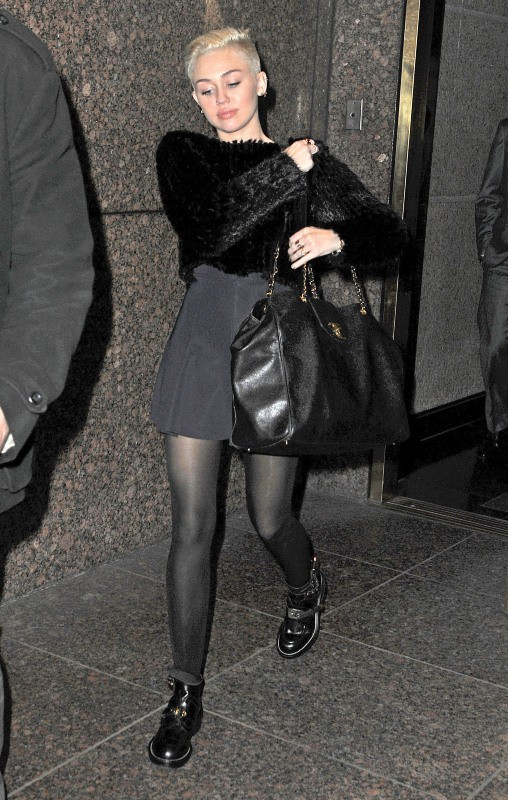 Miley Cyrus le 19 novembre 2012 à New York